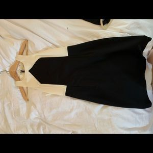 Trunk Turk black and White Knee Length Dress